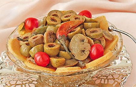 طرز تهیه ترشی قارچ و زیتون/دسر