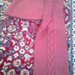 آموزش بافت شال وکلاه سرهم زنانه با طرح پیچ گرد/ بافتنی