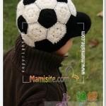طرز بافت توپ فوتبال ،کلاهی پسرونه/قلاب بافی