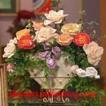 آموزش دسته گل های روبان دوزی/ربان دوزی
