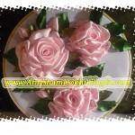 اموزش تصویری روبان دوزی گل رز زیبا