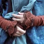 نحوه بافت ساق دست یا دستکش/بافتنی
