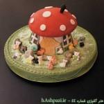 طرز تهیه کيک كودك(كلبه قارچي)/شیرینی