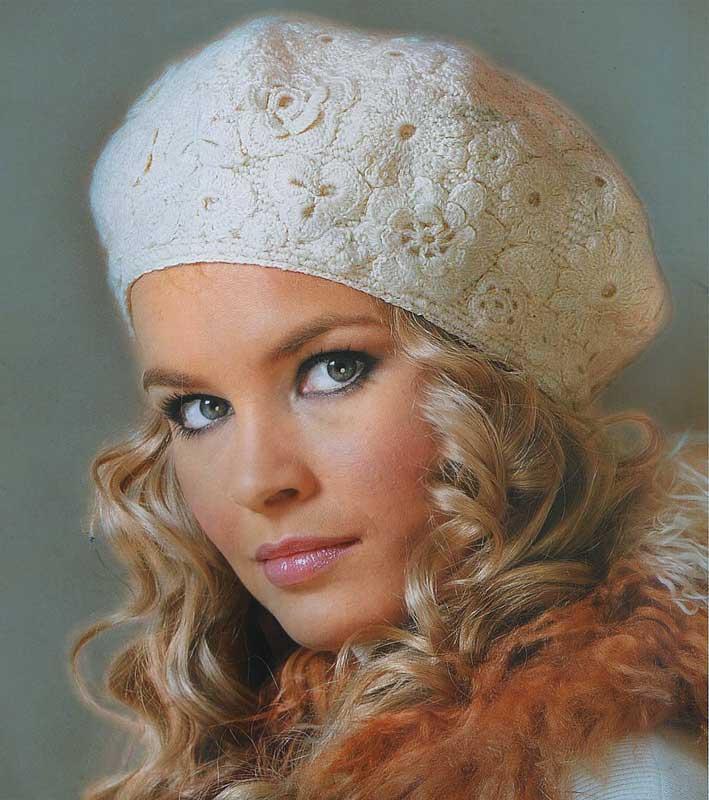 آموزش مدل کلاه زیبای پر از گل وبرگ /قلاب بافی