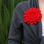گل بسیار زیبای پارچه ای/آموزش گل سازی