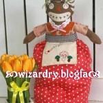 طرز دوخت جاي دستمال كاغذي اشپزخونه طرح زن افريقايي/عروسک