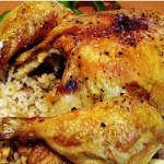 پخت  مرغ شکم پر/آشپزی