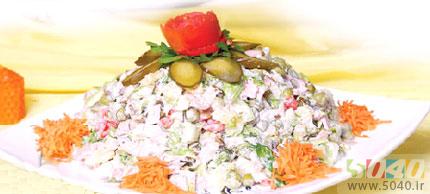 طرز تهیه سالاد مرغ/  آشپزی
