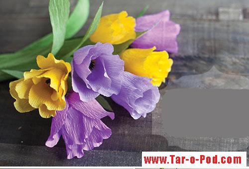 آموزش گل تزیینی باکاغذ/آموزش گل سازی