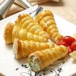 آموزش درست کردن قیف ژامبون با سیب زمینی/آشپزی