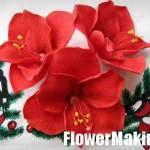 آموزش ساخت گل نرگس قرمز با خمیر/آموزش گل سازی