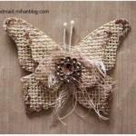 آموزش ساخت پروانه با گونی /هنردرخانه