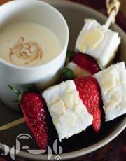 طرز تهیه بارک شکلات سفید/شیرینی