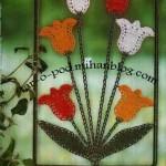 آموزش بافت گل /قلاب بافی