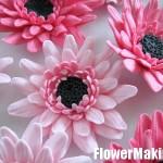 آموزش گل ژربرا با خمیر چینی/آموزش گل سازی