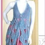 آموزش  بافت لباس مجلسی زنانه /قلاب بافی