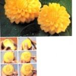 تزیین کدو حلوایی،گل کوبک/میوه آرایی