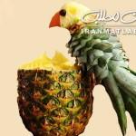 آموزش تزیین آناناس به شکل طوطی /میوه ارایی