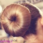 آموزش مدل شینیون مو به شکل دونات/بافت مو