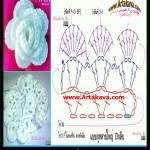 آموزش بافت گل رز/قلاب بافی