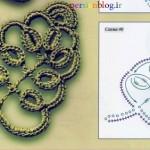 سه مدل برگ قلاب بافی با الگو/ قلاب بافی