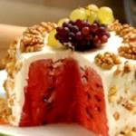 آموزش دسر بی در دسر  کیک هندوانه/دسر