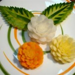 آموزش تزئین سیب زمینی به شکل گل /سفره آرایی