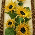 آموزش ساخت تابلوی گل آفتابگردان/آموزش گل سازی