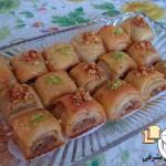 طرز تهیه باقلوا با خمیر یوفکای خونگی/شیرینی