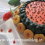 آموزش کیک یاقوتی انار با تزئین فانتزی هندوانه/شیرینی