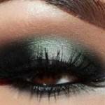 آموزش تصویری آرایش چشم به رنگ سبز و دودی/آرایش وزیبایی