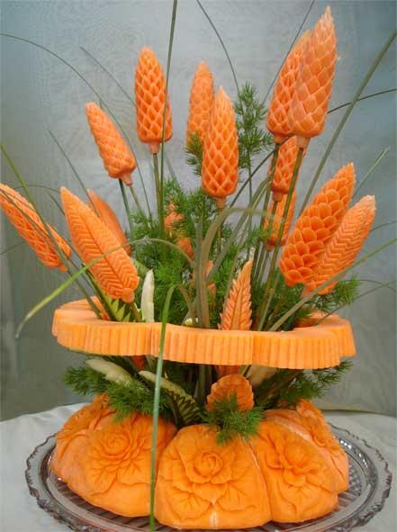 آموزش تزیین هویج به شکل گل/سفره ارایی