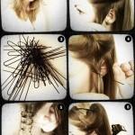 اموزش فرریز مو با سیخ بیگودی و اتوی مو/بافت مو
