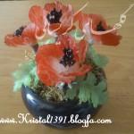 آموزش گلدان شقایق/کریستال بافی