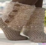 آموزش جوراب بافتنی زنانه/بافتنی
