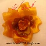 آموزش ساخت گل رز مدل3/کریستال بافی