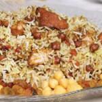 طرز تهيه ي نخودپلو با كشمش پلويي/غذای مخصوص ماه رمضان