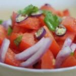 طرز تهیه سالاد گوجه فرنگی (هندوستان))/سالاد