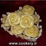 طرز تهیه نان گل رز/شیرینی