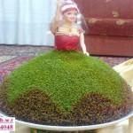 تزیین سبزه  به شکل عروسک/ سفره هفت سین