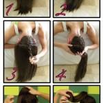 آموزش تصویری بستن مدل مو شیک وساده/بافت مو