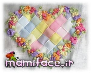 اموزش روبان دوزی قلب برای تزیین کوسن وچیزای دیگه/ربان دوزی