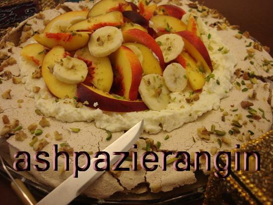 طرز تهیه پاولوواي شليل و موز/دسرمخصوص ماه رمضان