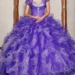 مدل لباس نامزدی به رنگ بنفش /مدل لباس