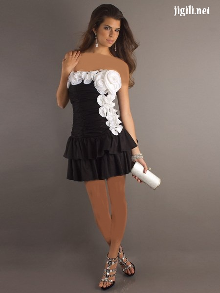 طرح های جدید لباس مجلسی سفید و مشکی/مدل لباس