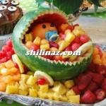 میوه آرایی بامزه و فانتزی هندوانه/میوه ارایی