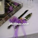 مدل چاقوی کیک عروسی تزیین شده/وسایل مورد نیاز عروس