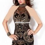 مدل لباس شب  پشت گردنی کوتاه/مدل لباس