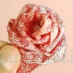 آموزش ساخت گل رز پارچه ای/آموزش گل سازی
