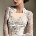 مدل های کت آستین بلند برای لباس عروس دکلته/وسایل مورد نیاز عروس